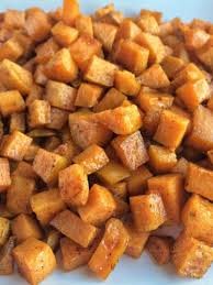 roasted maple cinnamon sweet potatoes together as family