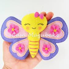 felt butterfly digital pattern pdf file casa magubako