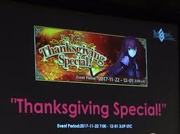 the fgo thanksgiving special event featuring scathach grandorder