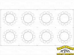 60 Inch Round Table by 20x40 Pole Tent Layouts Pictures Diagrams Rentals