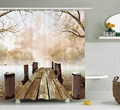 Shower Curtains Rustic Shower Curtain Collection By Ambesonne Decor
