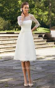 simple knee length wedding dresses bridal dresses casual wedding dress dorris wedding
