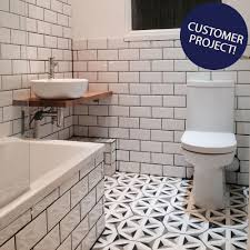bevelled brick white gloss wall tiles retro metro tiles