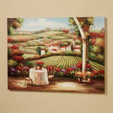 Artwork For Dining Room Vineyard In The Valley Canvas Wall Art