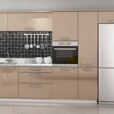 using high gloss paint on kitchen cabinets chagne color acrylic high gloss painting laminate kitchen