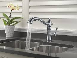 Kitchen Pullout Faucet by Delta Cassidy Single Handle Pull Out Standard Kitchen Faucet