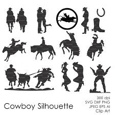 cowboy western silhouettes clipart eps svg dxf ai jpg