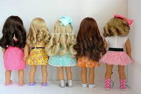 cute hairstyles for our generation dolls how to curl american girl dolls hair youtube