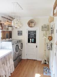 Country Laundry Room Decorating Ideas Junk Chic Cottage Laundry Room