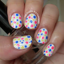 the polish playground simple and colorful polka dots