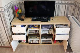 Storage Furniture Ikea How To Make An Expedit Retro Gaming Cabinet Ikea Hackers