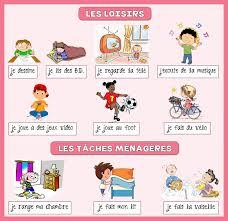 vocabulaire de la chambre mon de français loisirs et tâches ménagères vocabulaire