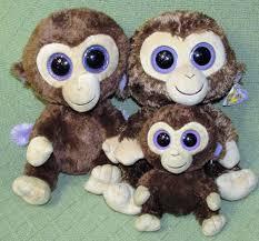 ty beanie boos gabby the 6 ty beanie boo lot of 3 coconut buddies plush stuffed monkey ape