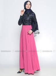 www modanisa natürel kumaşlı garnili elbise lacivert benin modanisa