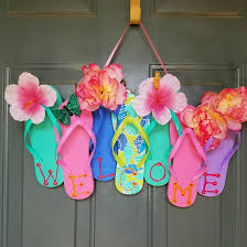 flip flop wreaths for summer crafty morning