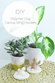 modern cactus ring holder images Diy polymer clay cactus ring holders stylishly tidy life jpg