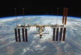 iss lights in the dark