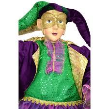 large mardi gras large sitting jester mardi gras doll 48 71457