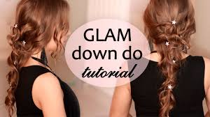 lilith moon youtube wedding prom party hairstyle with curls for long hair tutorial
