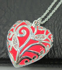 glow in the necklaces wholesale silver heart drop locket neckalces glow in the
