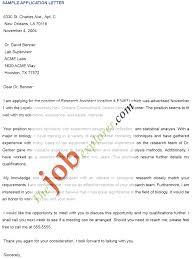 Application Letter For Job Sample Format Application Letter Format For New Job