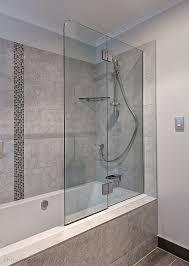 Bath Shower Doors Glass Frameless Frameless Glass Bath Screens Shower Solution