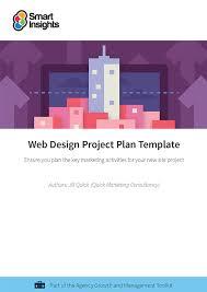 web design project plan template smart insights