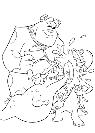 monsters inc movie coloring pages coloringstar