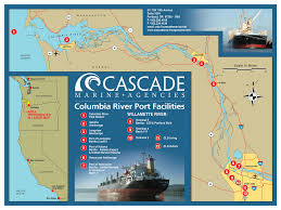 Astoria Usa Map by Cascade Marine Agencies