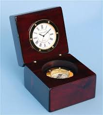 desk clock engravable piano finished mahogany desk clock with compass