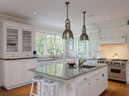 traditional kitchen with hardwood floors u0026 pendant light in old