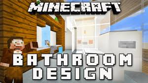 minecraft tutorial how to make a modern bathroom modern house