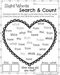kindergarten math and literacy worksheets for february literacy