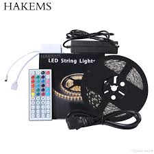 led light strips kit hakemstm 16 4 ft led strip lights kit 5m waterproof 5050 smd