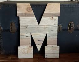 Reclaimed Wood Home Decor 24 Tall Wood Letters Reclaimed Wood Pallet Wood
