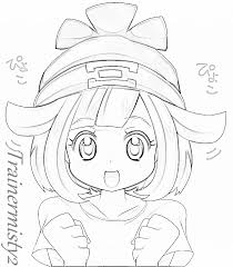 pokemon sun and moon female character sketch by trainermisty22 on