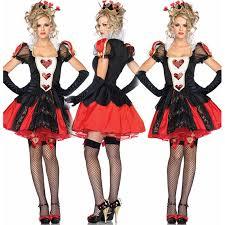 Red Queen Halloween Costume Cheap Wonderland Red Heart Queen Costume Aliexpress