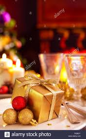 Romantic Table Settings A Romantic Christmas Dinner Table Setting With Candles And
