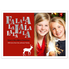 personalized christmas cards fa la la christmas photo cards photo cards personalized