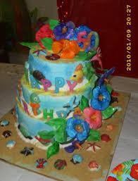 hawaiian 50th birthday cake cakecentral com