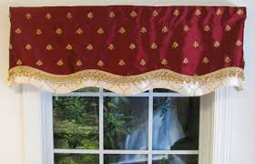 Black Window Valance Scalloped Valances Patterned Solid Colored Double