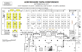 hyatt regency atlanta floor plan sponsor logistics tapia conference