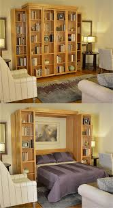 with a bi fold bookcase wall bed you can take convertible