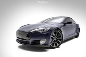 matte wrapped cars tesla model s wrapped in carbon fiber and stealth