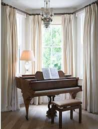 window treatments for bay windows with curtains and panel best