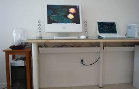 Computer Desk Cord Management Gutters As Cable Management Tools