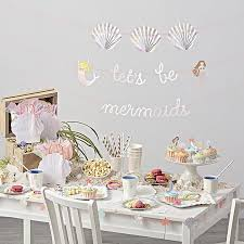 party decorations meri meri mermaid party decorations crate and barrel