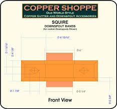 squire ornamental decorative copper downspout bands