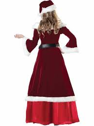mrs santa claus costume 3 4 sleeves the shoulder mr and mrs santa claus costumes burgundy