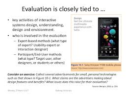 design expert 9 key evaluation of interactive systems design or prototype or product